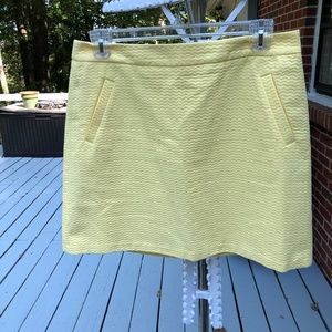 The Limited/ High Waisted Yellow Skirt